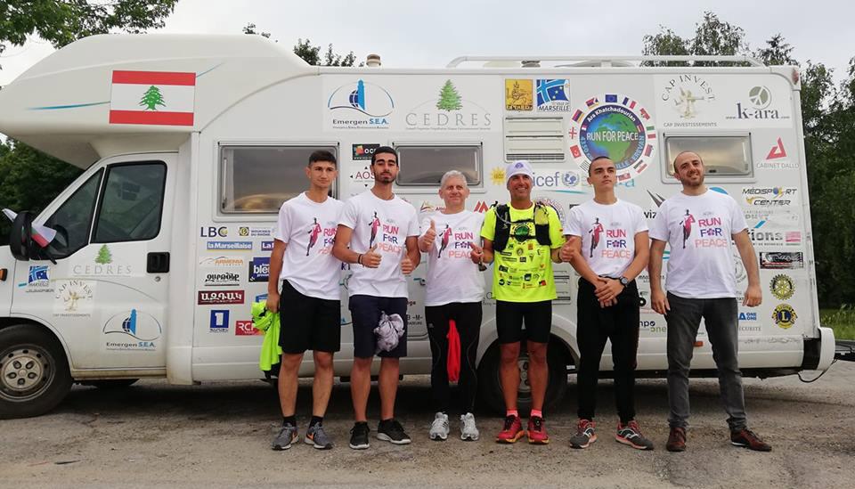 AGBU Sofia welcomes Ara Khachadurian during his Run for Peace