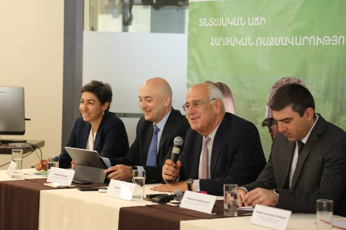 Speakers at the AGBU Fund for Artsakh press conference