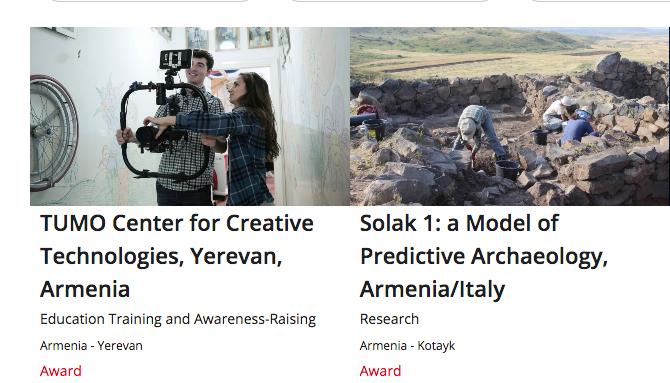 European Heritage Awards recognize two Armenian initiatives