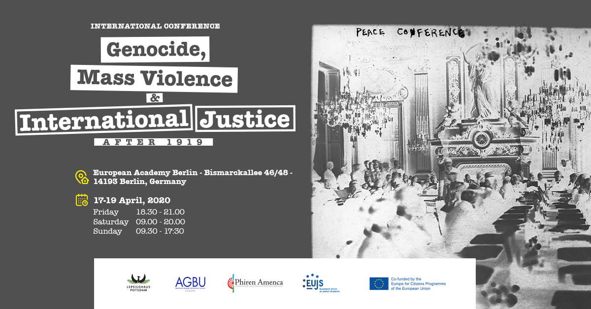 International Conference to Explore Legacy of WWI Mass Crimes on Politics in Europe