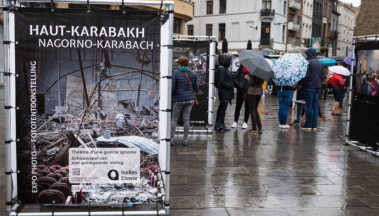 AGBU Europe partners with Local Authorities in Brussels to Display Open Air Photo Exhibition on Artsakh War